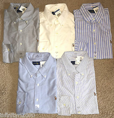 NEW Polo Ralph Lauren Men Standard Fit Oxford Button Down Long Sleeve Shirt