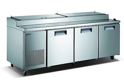 Vortex Refrigeration 3 Door 12 Pan 93 Pizza Prep Table