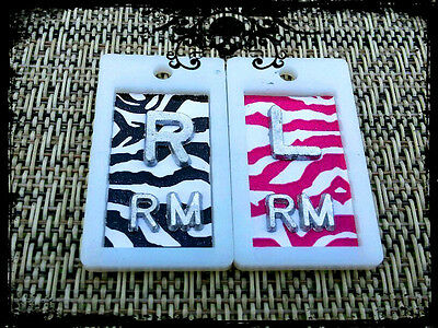 XRAY MARKERS PINK ZEBRA #8 and BLACK ZEBRA #9 CUSTOM 2 INITIALS