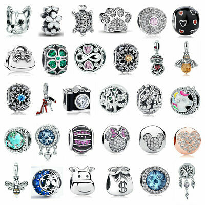 2018 European sterling Silver CZ Charm Beads Fit 925 charm Bracelet & Chain