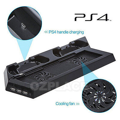 Premium Charger Console Cooling Fan Stand Dock Controller for PS4 Playstation 4
