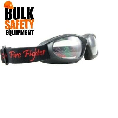 Fire Fighter Antifog Safety Goggles - 803SHBSDA (Smoked) or 803SHBCA (Clear)