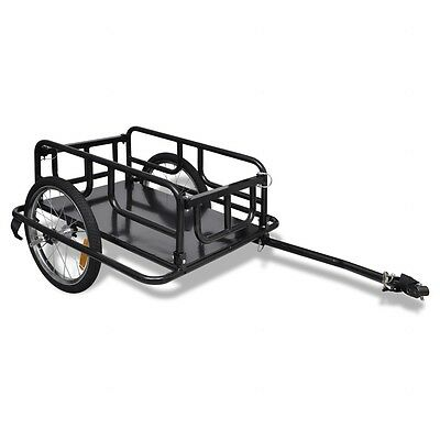 #bNEW Bike Bicycle Cargo Carrier Trailer Utility Luggage Cart 2-Wheels Black