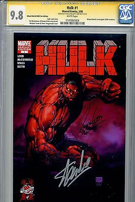 Hulk 2008 1 CGC 9.8 SS WWLA Turner variant Jeph Loeb Stan Lee Red Iron Man
