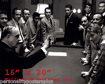 "Ratpack~Martin~Sinatra~Playing Pool~Billiards~Shooting Pool~Poster~Photo~16""x20"""