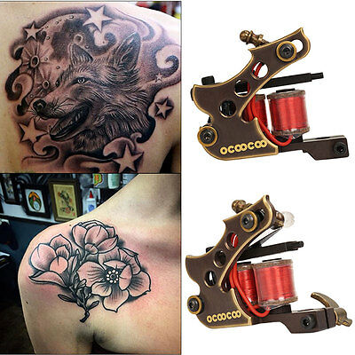 T100A Professional Motor Tattoo Machine 8 Wrap Double Coils Frame / Liner