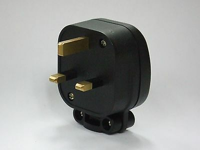 MS HD Power 13A unplated UK Mains Plug. Audiophile connector. MS328. DECO