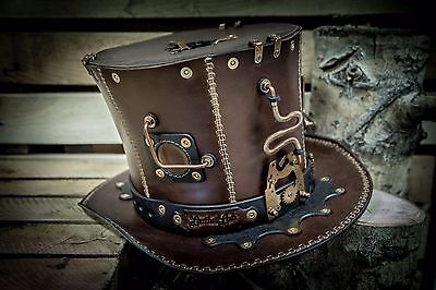 Unique Victorian Handmade Steampunk HAT || Leather Lab || Metal || Gothic || #3