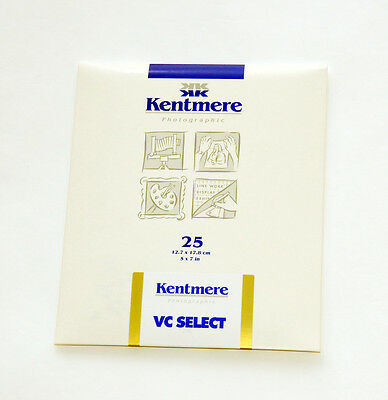 "Kentmere VC Select RC Glossy 5x7"" 25 sheets Black & White Paper"
