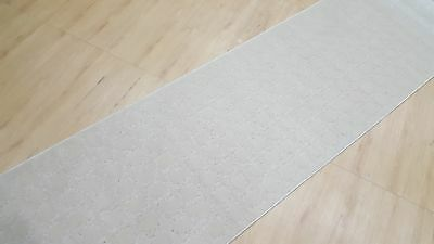 White Geometric Hall-Runner, Quality Hall runner, Turkish made, SIZE: 80 x 300cm