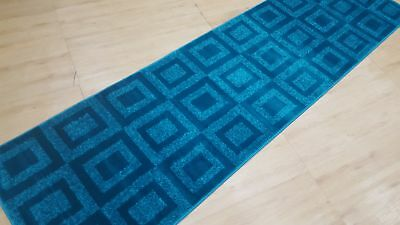 Vibrant Blue Hall-Runner, Superior Quality, Turkish made, SIZE: 80 x 300cm