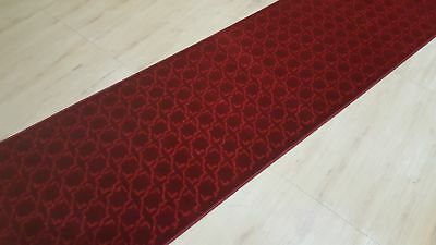 Unique Red Geometric Design, Durable Quality, Turkish made, SIZE: 80 x 300cm