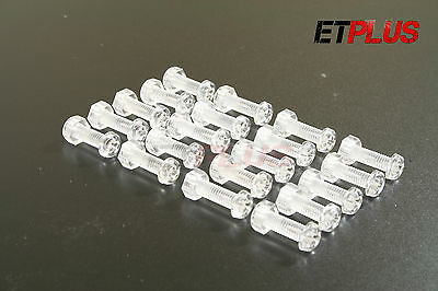 Clear Acrylic Nuts Bolts DIY Screws M3 M4 M5 M6 Various Pack Sizes Lengths