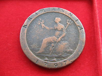 King George Iii 1797 Copper Cartwheel Penny Coin Free Insured Uk Post L47