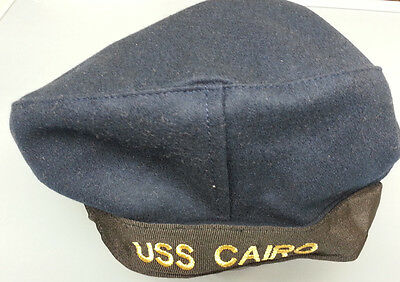 """Civil War Usn Enlisted Navy Uss Cairo Sailor Hat Size Small """" Flat Hat """""""