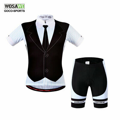 New Summer Mens Cycling Jersey Bike Bicycle Clothing Short Sleeve Suit Short Set