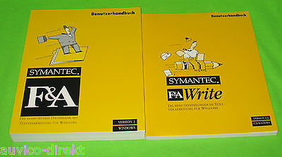 Symantec F&A Write Benutzerhandbuch Version 1 Version 3.0 Windows 01-31-90002-GE