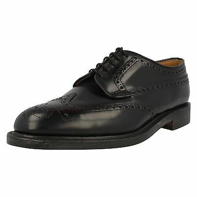 Mens Loake Shoes Braemar Black Polished Leather Fitting F