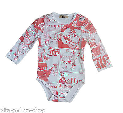 JOHN GALLIANO Kids / Kinder / Baby Body 15, Fotoprint, Langarm, Gr. 68