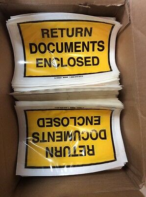 Return Documents ,Packing List Envelopes-ULINE-Box With Lots In