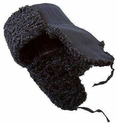 Karakul fur Russian winter hat Ushanka Trapper Bomber Ear Flaps Woolen top