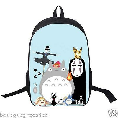 New Miyazaki Hayao Totoro No Face Man Ponyo Backpack Cartoon Children School Bag