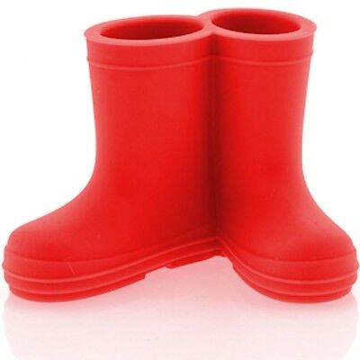 Red Wet Booties Toothbrush Holder Funky Silicone Bathroom Accessory