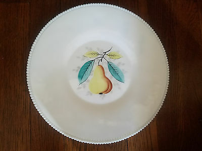 Westmoreland Beaded Edge Hand Painted Platter,sandwich, Torte Plate; Zodiac Back