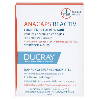 DUCRAY ANACAPS TRI-ACTIV 30 CAPS Anti-hair loss FREE SHIPPING ALL WORLD !!!
