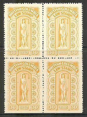 British Columbia #BCL38, 1942-1948 30c Law Stamp - Eighth Series, B4 NH