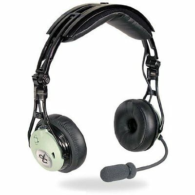 David Clark DC PRO Passive Aviation Headset - GA/Dual Plug Pilot - 43101G-01
