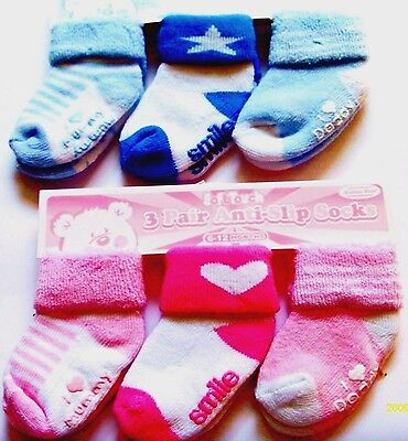 Baby Boy / Girl 3 Pack Anti Slip Socks
