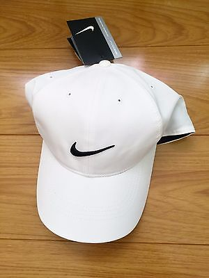 NIKE GOLF ADULT UNISEX BALL CAP, ADJUSTABLE HAT, size MISC - White