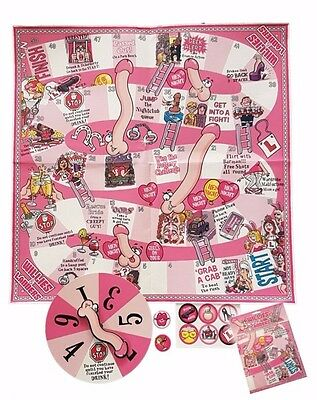 Willies and Ladders Hen Night Game Adult Snakes and Ladders Girls Night Stag