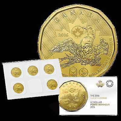 Canada - 1 Dollar ($1) - 2016 - Lucky Loonie (Rio Olympics) - UNC  5 pack sealed
