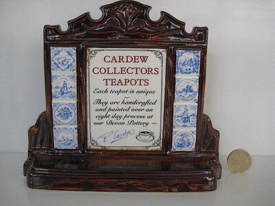 Very Rare Shop Point Of Sale Advertising Leaflet Holder Cardew Novelty Teapots