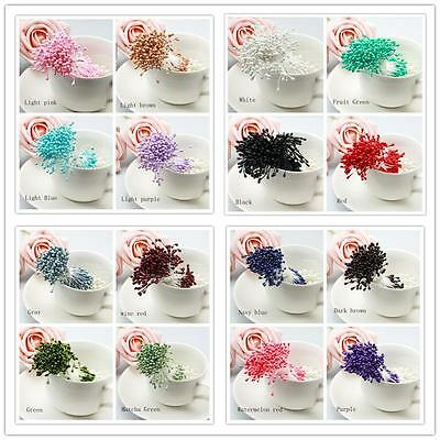 280/Artificial Flower Stamen Double Tip Pearlized Craft Cards Cakes Decor Hot #