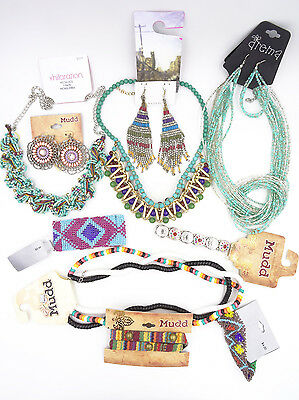 10 Piece New Turquoise Southwest Style Jewelry Lot NWT #10TURQLOT