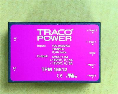 TRACOPOWER 15W 3 Output Embedded Switch Mode Power Supply 5V DC @1.6A ±12V @1.5A