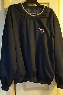 Pepsi Cola Pullover Jacket Windbreaker Uniform Mens Size XL