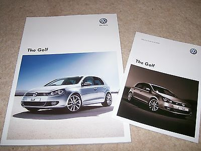 VW Golf Mk6 Brochure 2012 - inc GT, GTi Edition 35 R 4MOTION - Oct 2011 + Prices