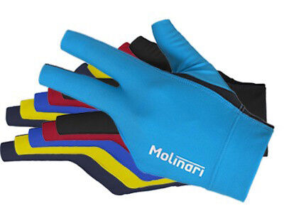 Molinari Billiards Glove (NEW) 3-Finger in 6 colors for Left od. Right handed