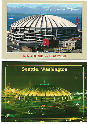 The Kingdome Seattle Mariners MLB / Seahawks NFL Stadium Postcards Lot of (2)