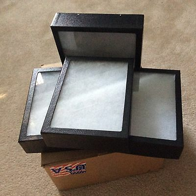 "1 - Box (of 4) 6 x 8"" x 2"" (Extra Thick) Display Cases (""Riker"" type - USA Made)"