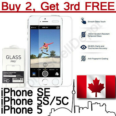 Premium Tempered Glass Screen Protector For iPhone SE, iPhone 5, iPhone 5S & 5C