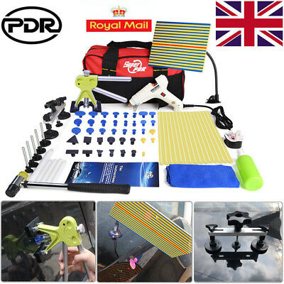 UK Auto PDR Hail Repair Glue Gun Dent Puller Lifter Paintless Removal Tools Kit