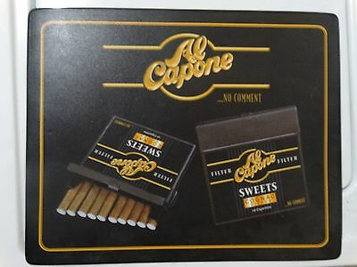 Advertisement Al Capone No Comment Sweet Cigarillos Store Placemat Chicago Cigar