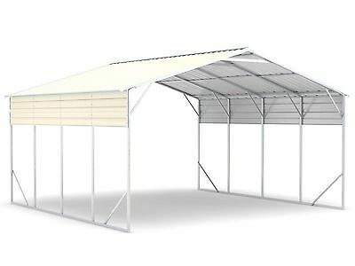 Carport 6.2m x 6.0m x 3.6m Widespan Cream Car Port Steel Portable RV Boat NEW