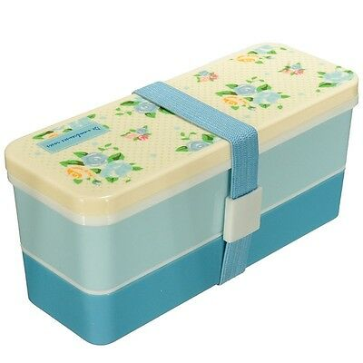 2 Tiers Lunch Box Food Container Case Storage With a Belt Lunchbox Kitchen PK