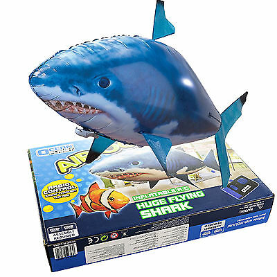 Remote Control RC Inflatable Balloon Air Swimmer Flying shark Fish Radio Blimp#A